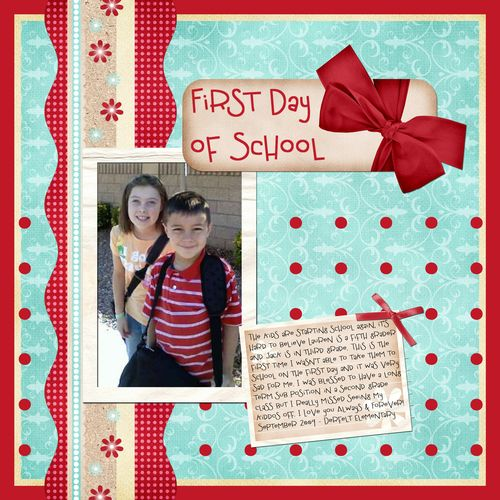 First day of school 2009 copy