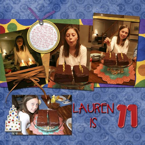 Lauren's birthday copy